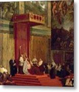 Pope Pius Vii Luigi Barnaba Chiaramonti Attending Chapel 1820 Metal Print