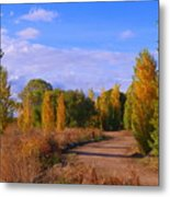 Poplar Lane Metal Print