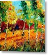 Poplars '459070 Metal Print
