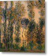 Poplars At Giverny - Sunrise Metal Print