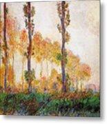Poplars, Autumn Metal Print