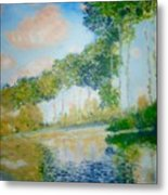 Poplars On The Epte Claude Monet Metal Print