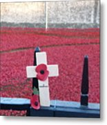 Poppies At Tower Of London Metal Print