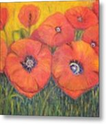 Poppies For My Sister Metal Print