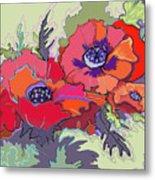 Poppies IIi Metal Print