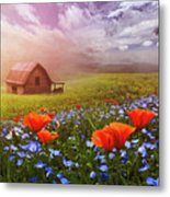 Poppies In A Dream Metal Print