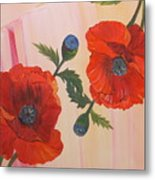 Poppies In Love Metal Print