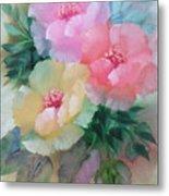 Poppies In Pastel Colors Metal Print