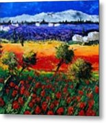 Poppies In Provence Metal Print