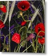 Poppies In The Corn Metal Print