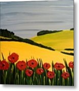 Poppies In The Hills Metal Print