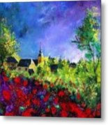 Poppies In Villers Metal Print