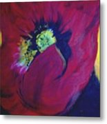 Poppies Nod To O'keefe Metal Print