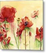 Poppies On Parade Metal Print