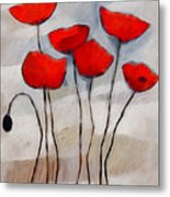 Poppies Painting Metal Print