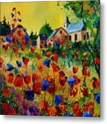 Poppies Sosoye Metal Print