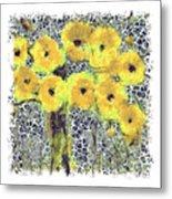 Poppy Bouquet I Pf Metal Print