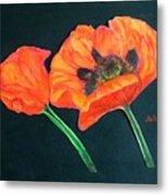Poppy Bud And Bloom Metal Print