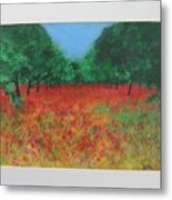 Poppy Field In Ibiza Metal Print