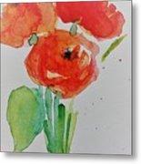 Poppy Flowers 1 Metal Print