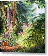 Poppy Garden Landscape Metal Print