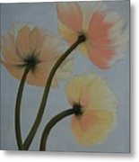 Poppy Ice Metal Print