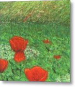 Poppy In Country Metal Print