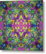Poppy Opal Yantra Metal Print