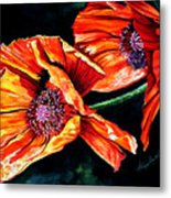 Poppy Passion Metal Print