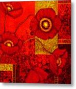 Poppy Treasures II Metal Print