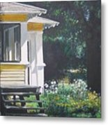 Porch By The Road Metal Print