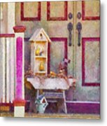 Porch - Cranford Nj - The Birdhouse Collector Metal Print by Mike Savad