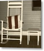 Porch Rocker Metal Print