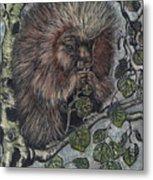 Porcupine In Aspen Metal Print