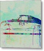 Porsche 356 Watercolor Metal Print