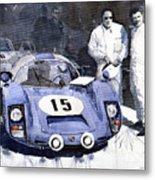 Porsche 906 Daytona 1966 Herrmann-linge Metal Print by Yuriy  Shevchuk