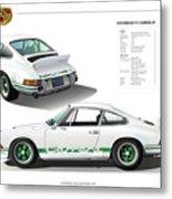 Porsche 911 Carrera Rs Illustration Metal Print