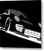 Porsche 911 Gt2 Night Metal Print