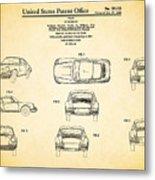 Porsche 911 Patent Metal Print