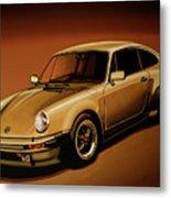 Porsche 911 Turbo 1976 Painting Metal Print
