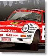 Porsche 911 Rally Illustration Metal Print
