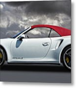 Porsche 911 Turbo S With Clouds Metal Print