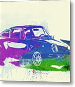 Porsche 911 Watercolor Metal Print by Naxart Studio