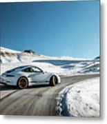 Porsche 911r Powerslide Metal Print