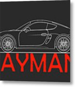 Porsche Cayman Phone Case Metal Print