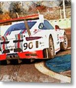 Porsche Gt3 Martini Racing - 02 Metal Print