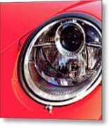 Porsche Headlight Metal Print