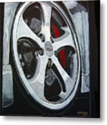 Porsche Techart Wheel Metal Print