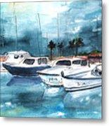 Port Alcudia Harbour 01 Metal Print