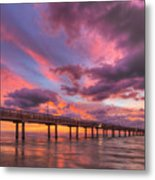 Port Aransas Texas Sunrise 25 Metal Print